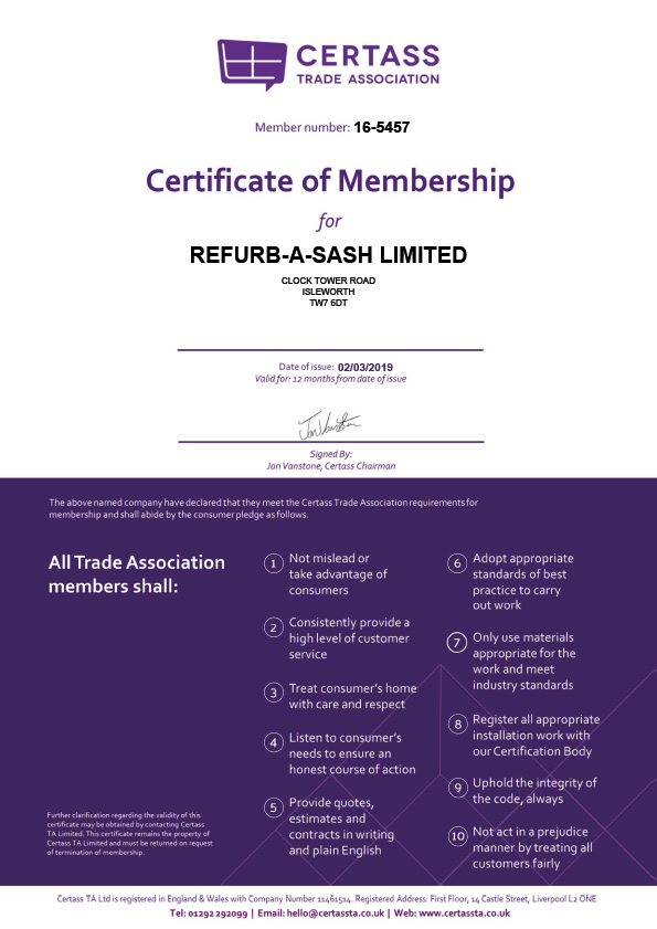 Refurbasash Certass Membership 2019