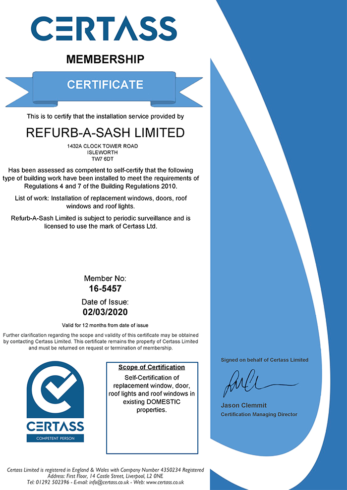 CERTASS Certificate - Refurbasash